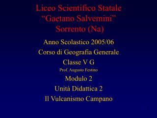 "Liceo Scientifico Statale  ""Gaetano Salvemini""   Sorrento (Na)"