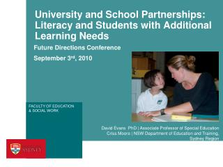 University and School Partnerships: Literacy and Students with Additional Learning Needs