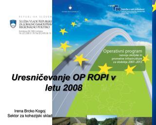 Uresničevanje OP ROPI v letu 2008