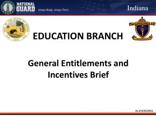General Entitlements and Incentives Brief