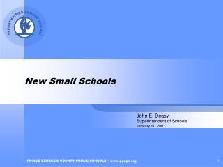 New Small Schools