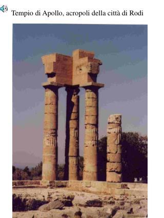 Tempio di Apollo, acropoli della città di Rodi