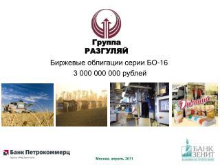 Биржевые облигации серии БО-16  3 000 000 000 рублей