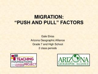 "MIGRATION:   ""PUSH AND PULL"" FACTORS"