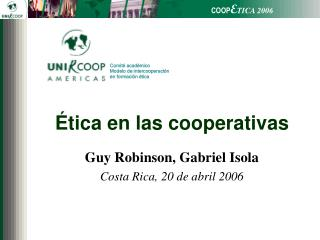 Ética en las cooperativas