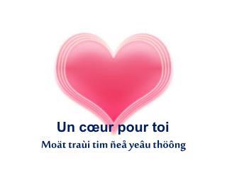 Un cœur pour toi