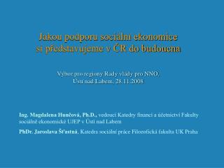 Sociální ekonomika jako  faktor lokálního a regionálního rozvoje