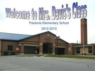 Welcome to Mrs. Davis's Class