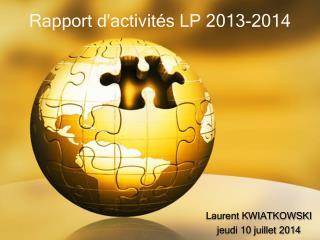 Rapport d'activités LP 2013-2014
