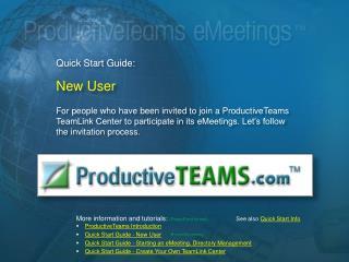 Quick Start Guide:  New User