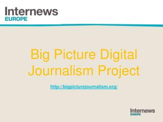 Big  Picture Digital Journalism Project  http ://bigpicturejournalism /