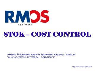 Akdeniz Üniversitesi Akdeniz Teknokenti Kat:2 No: 3 ANTALYA