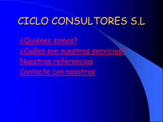 CICLO CONSULTORES S.L