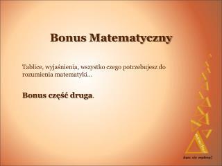 Bonus Matematyczny