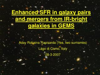 Enhanced SFR in galaxy pairs and mergers from IR-bright galaxies in GEMS