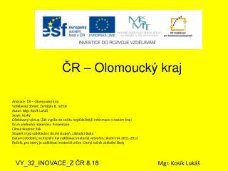 ČR – Olomoucký kraj