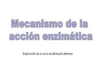 Mecanismo de la  acción enzimática