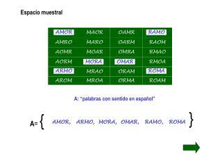 """A: """"palabras con sentido en español"""""""