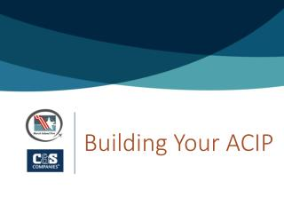 Building Your ACIP