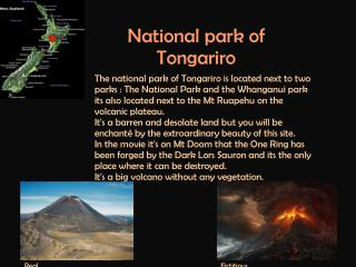 National park of Tongariro