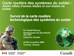 Survol de la carte routi re technologique des syst mes du soldat