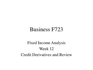 Business F723