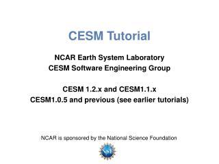 CESM Tutorial