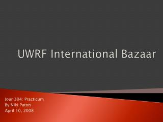 UWRF International Bazaar