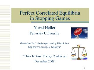 Perfect Correlated Equilibria  in Stopping Games