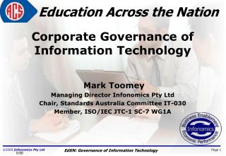 Corporate Governance of Information Technology