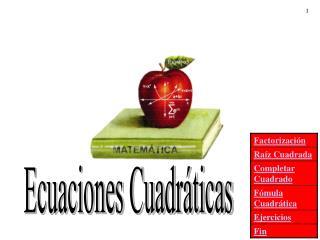 Ecuaciones Cuadr�ticas