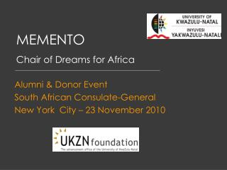 MEMENTO Chair of Dreams for Africa