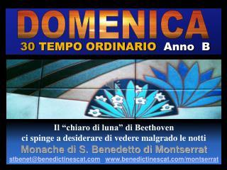 30  TEMPO ORDINARIO   Anno  B