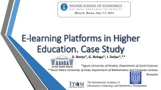 E-learning Platforms in Higher Education. Case Study