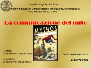 La comunicazione del mito