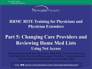 RRMC RITE Training for Physicians and Physician Extenders