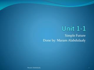 Unit 1-1