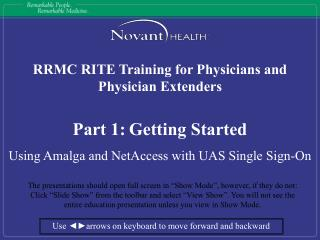 RRMC RITE Training for Physicians and Physician Extenders Part 1: Getting Started
