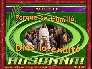 Mateo 21, 1-11