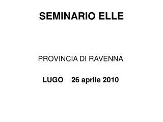 SEMINARIO ELLE