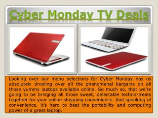Cyber Monday Laptop Deals 2014