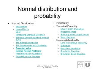 Normal distribution and probability