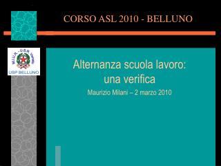 CORSO ASL 2010 - BELLUNO