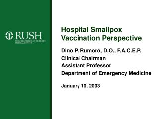 Hospital Smallpox Vaccination Perspective