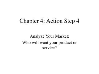 Chapter 4: Action Step 4