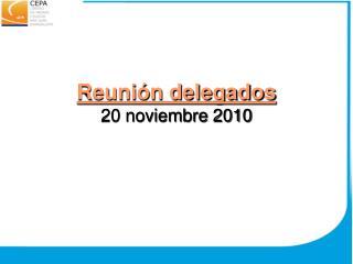 Reunión delegados  20 noviembre 2010