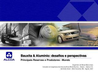 Bauxita & Alum�nio: desafios e perspectivas