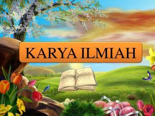 KARYA ILMIAH