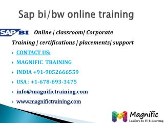 sap bi/bw online training in australia