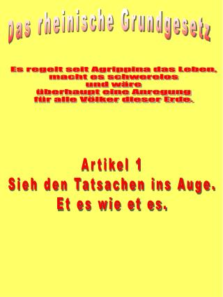 Das rheinische Grundgesetz